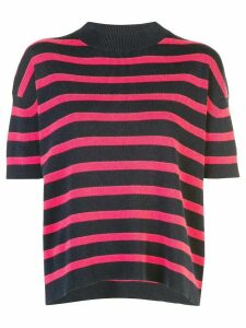 Barrie striped short sleeve jumper - Blue