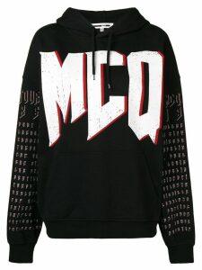 McQ Alexander McQueen logo print hoodie - Black