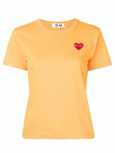 Comme Des Garçons Play Heart patch T-shirt - ORANGE