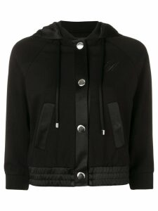 Emporio Armani cropped hooded jacket - Black