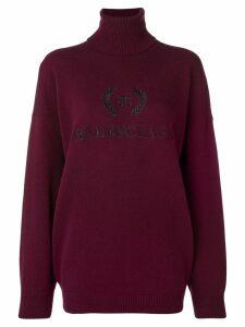 Balenciaga embroidered logo jumper