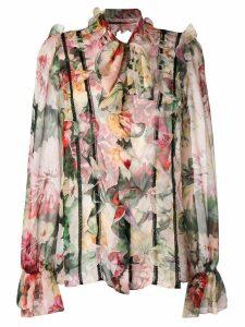 Dolce & Gabbana floral print blouse - NEUTRALS