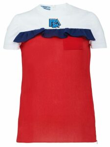 Prada frill trim T-shirt - Red