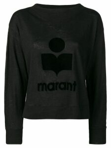 Isabel Marant Étoile tone on tone logo jumper - Black