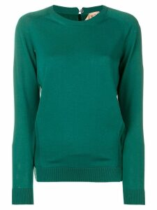 Nº21 long-sleeve fitted sweater - Green
