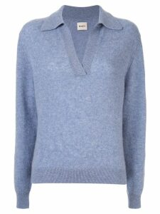Khaite v-neck jumper - Blue