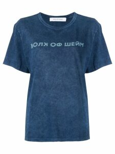 Walk Of Shame logo print T-shirt - Blue