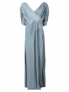 Lanvin long draped dress - Blue