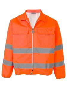 Gcds contrast stripe jacket - ORANGE