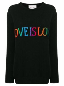Alberta Ferretti Love is Love jumper - Black