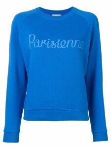 Maison Kitsuné Parisienne print sweatshirt - Blue