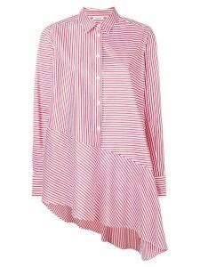 P.A.R.O.S.H. asymmetric striped shirt - Red