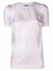 Prada lace trim blouse - PINK