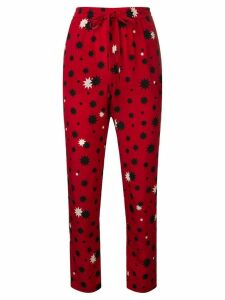 Red Valentino printed slim-fit trousers