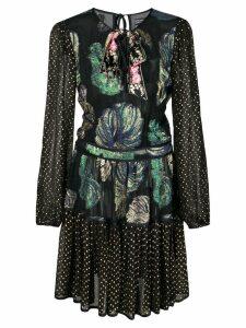 Cynthia Rowley Inverness Fish Bell Sleeve Dress - Black