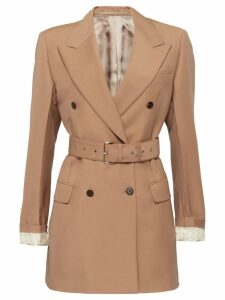 Prada double breasted belted coat - Pink