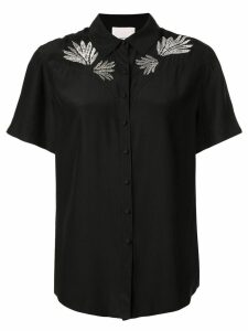 Cinq A Sept embroidered Bridget top - Black