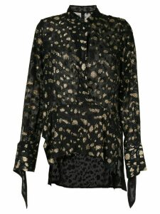 Petar Petrov sheer blouse - Black