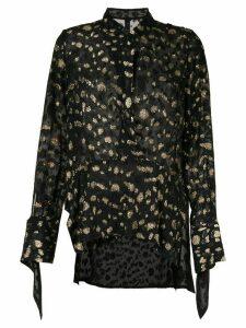Petar Petrov sheer blouse - Black