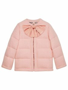 Gucci Padded tweed jacket with bow - PINK