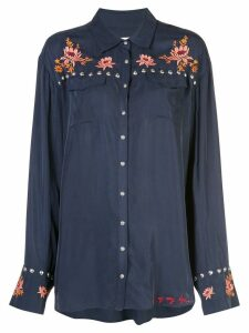 Cinq A Sept Lexi floral embroidered shirt - Blue