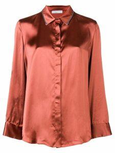 Fabiana Filippi embellished collar shirt - Orange