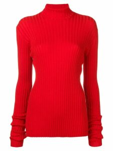 Victoria Beckham fitted turtle neck top - Red