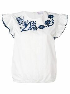 Red Valentino embroidered blouse - White