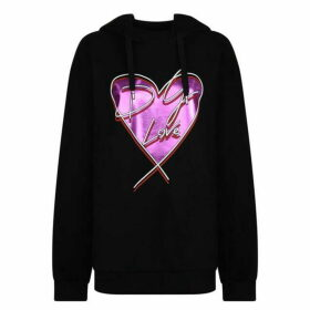 Dolce and Gabbana Heart Stamp Hooded Sweatshirt