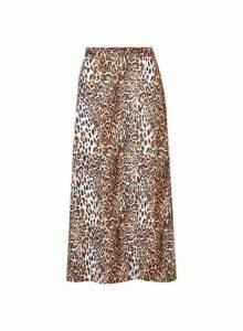 Womens Tall Multi Colour Jersey Animal Print Skirt - Black, Black