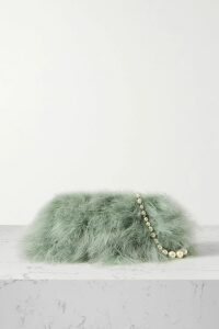 Temperley London - Starlet Silk Satin-trimmed Sequin-embellished Chiffon Wrap Top - Cream