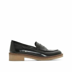 Leather Loafers with Crêpe Sole