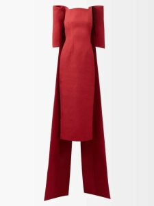 Anaak - Airi Gathered Silk Satin Blouse - Womens - Yellow