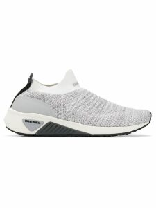 Diesel slip-on knitted sneakers - White