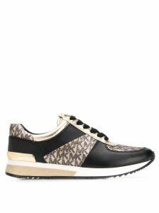 Michael Kors monogram print sneakers - Black