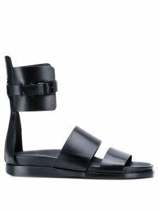 Ann Demeulemeester flat strappy sandals - Black
