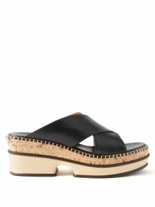 The Row - Angela V Neck Wool Blend Sweater - Womens - Navy