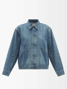 Rebecca Taylor - Polka Dot Print Ruffled Silk Blouse - Womens - Navy White