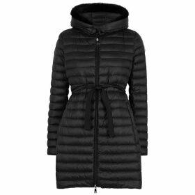 Moncler Barbel Fur-trimmed Shell Jacket