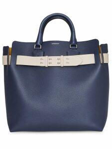 Burberry The Large Leather Belt Bag - Blue