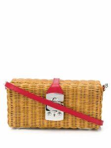 Miu Miu wicker crossbody bag - Brown