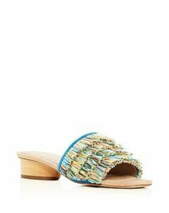 Donald Pliner Women's Honey Embossed Leather Loafers