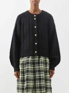 Raf Simons - Single-breasted Houndstooth Wool Blazer - Womens - Grey Multi