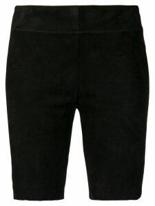 Jil Sander Suede shorts - Black