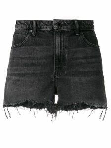 Alexander Wang frayed denim shorts - Grey