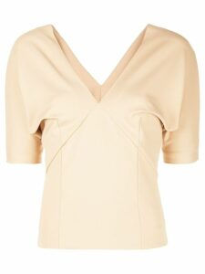 Haider Ackermann V-neck draped blouse - Brown