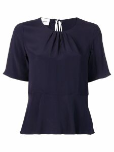 Dondup flared short-sleeve T-shirt - Blue
