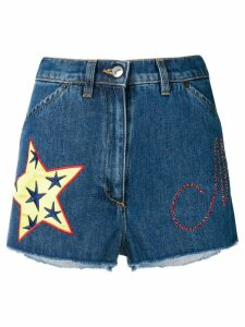 Moschino short denim shorts - Blue