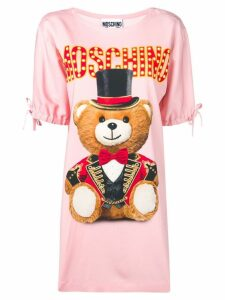 Moschino bear print T-shirt dress - Pink