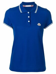 Moncler classic polo - Blue